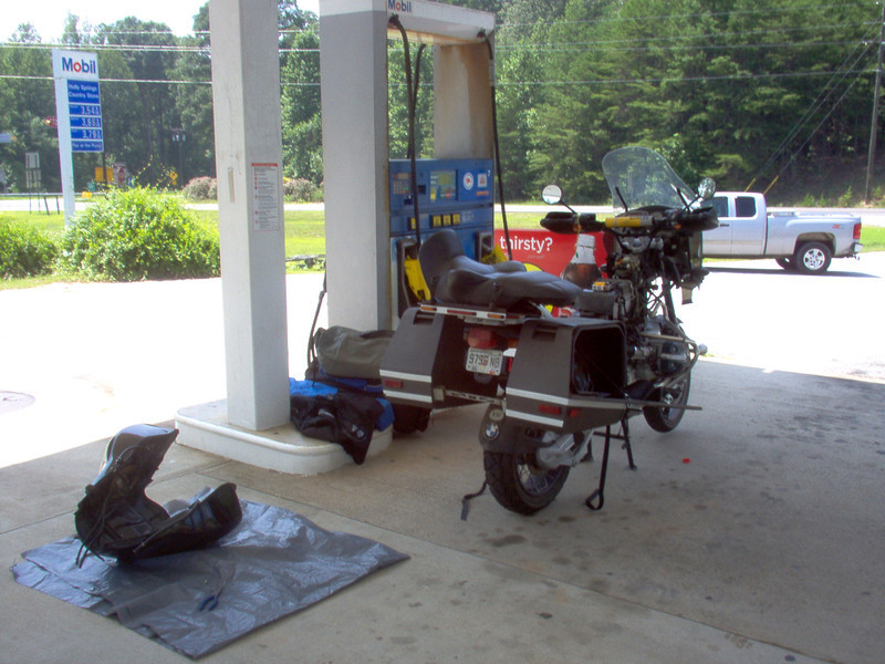 Not a good thing. BMW went dead after I made a cold drink pit stop at Holly Springs, SC. I discovered that it had stopped injecting fuel. After five hours of fruitless disassembly & reassembly, it decided to crank and run. I was sick/happy/skeptical/pissed-off/etc.