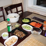 """Movie night at Vicki and Val's:  Sushi and """"The Burbs"""" - August 14, 2008"""