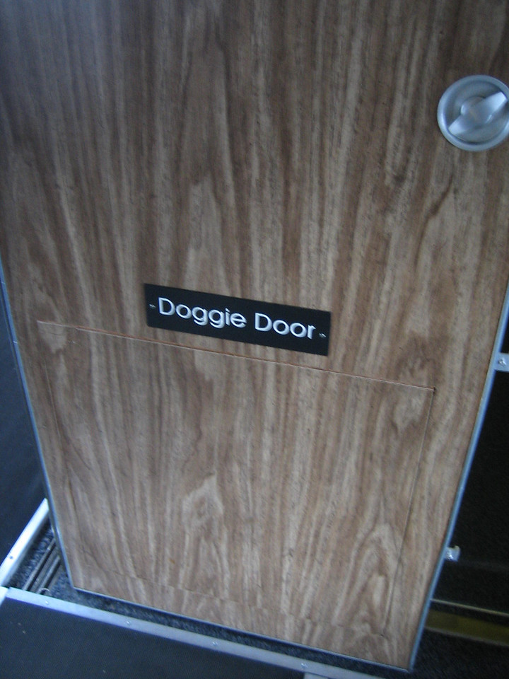 A doggy door on Air Force One!