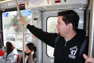 "He's thinking, ""Yeah, I own this light rail!"""