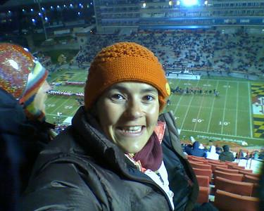 My first football game - November 22, 2008