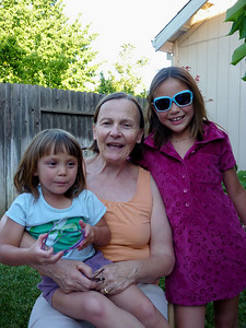 Nancy and two darling granddaughters Zoe and Lela