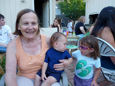 Nancy with sweet Henry and Zoe