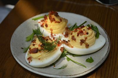 King + Duke deviled eggs.