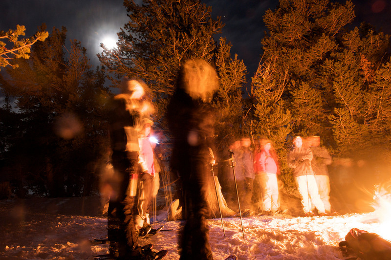 2009 New Year's Eve moonlight snowshoe 34