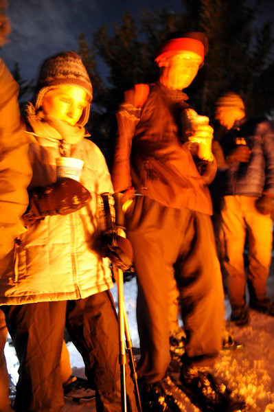 2009 New Year's Eve moonlight snowshoe 19