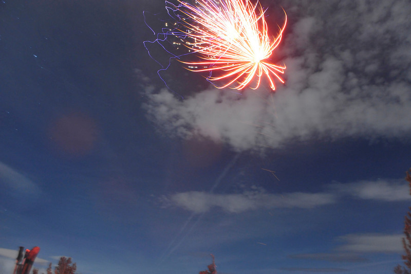 And we even had our own fireworks show.