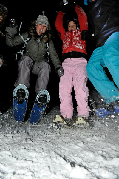 Jumping snowshoes!
