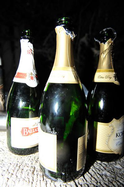 Trailside celebration beverages.
