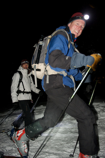2009 New Year's Eve moonlight snowshoe 41