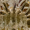 Detail of leaf pattern on base of main rotunda chandelier