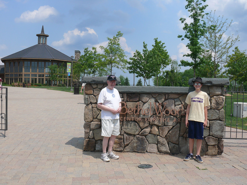 Dad and nephew Aric at the Woodstock museum.   The museum was kind of boring, with very few artifacts and mostly videos.