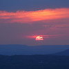Sunset over the Catskills.