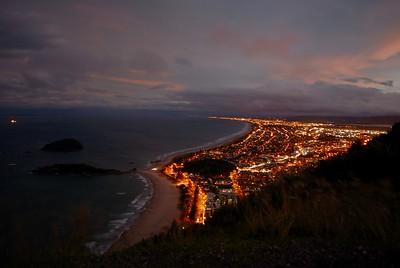 New Zealand - Tauranga - Mount Maunganui at night - January 2017