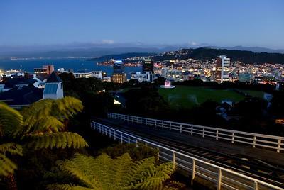 New Zealand - Wellington at night - January 2017