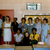 5. Another shot of the teachers. Mrs Mathis recently told me that the lady who worked in the office, in the front,  yellow blouse, was Martha Saine.