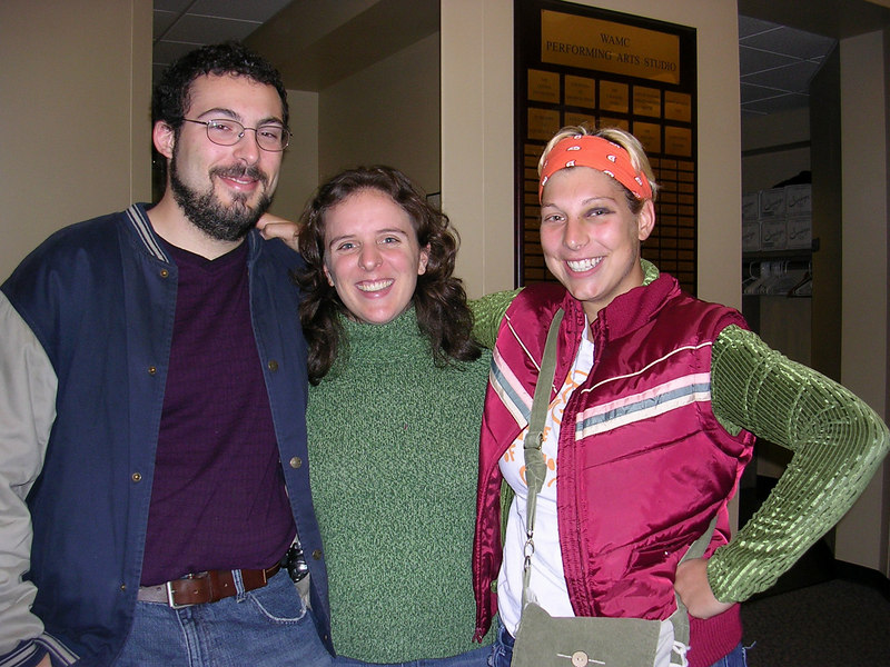 Seth, me, and Ele at the Dar Williams concert in Albany