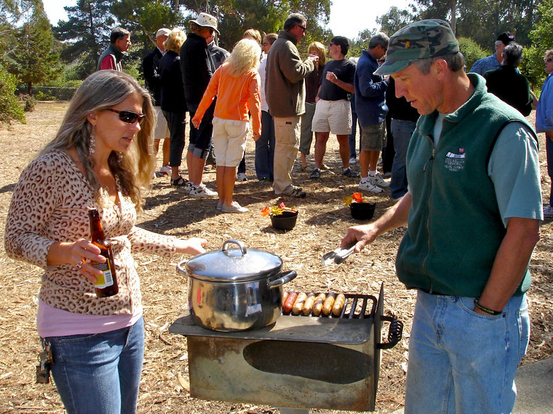 Terri and Chef David With Brats