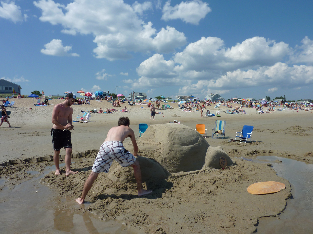 Sand Volkswagen at the Beach