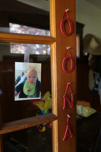 """The front door says """"Oona"""" and inside there are many packages waiting to be opened."""