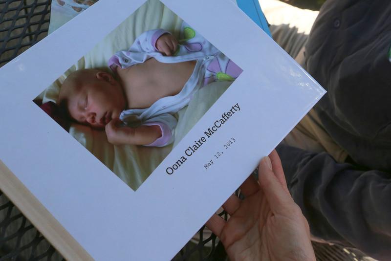 Oona Claire McCafferty's Baby Memory Book.