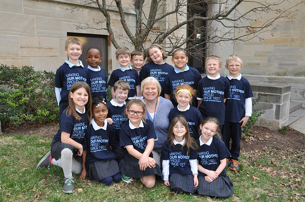 Our Lady of Lourdes 1st Grade class