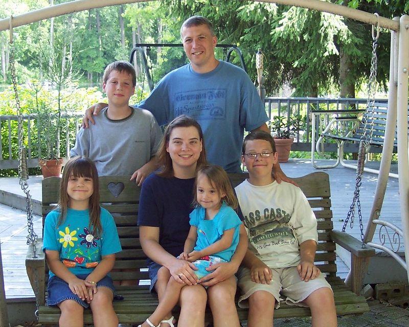 The Anderson Family visiting at Grandma's House