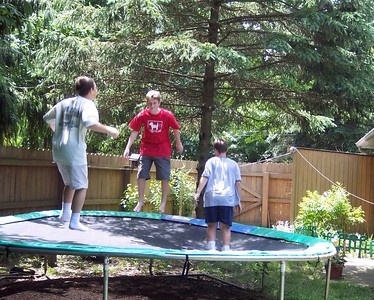 Fun on Grandma's trampoline with the Andersons