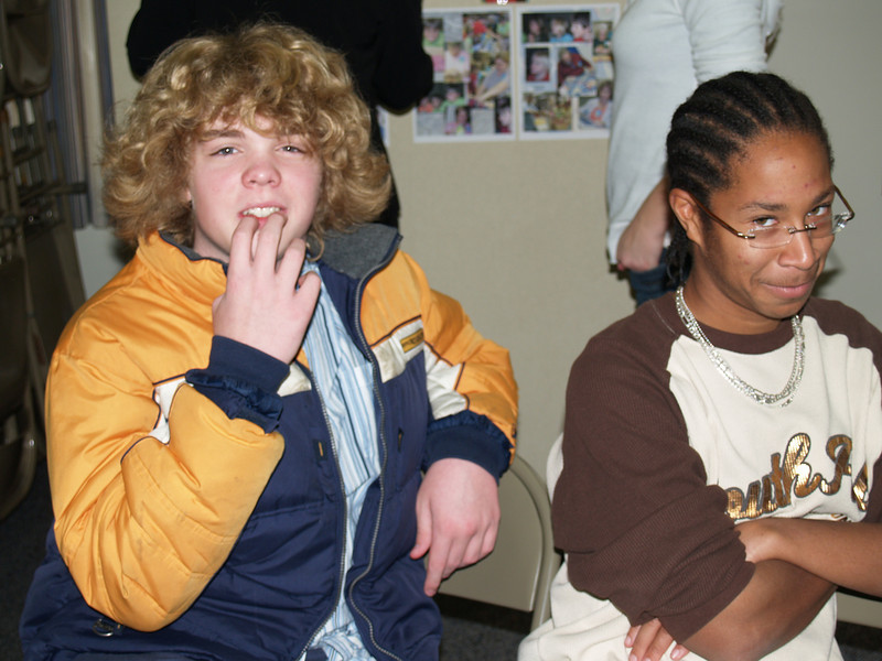 Seth & Michael goofing around after church