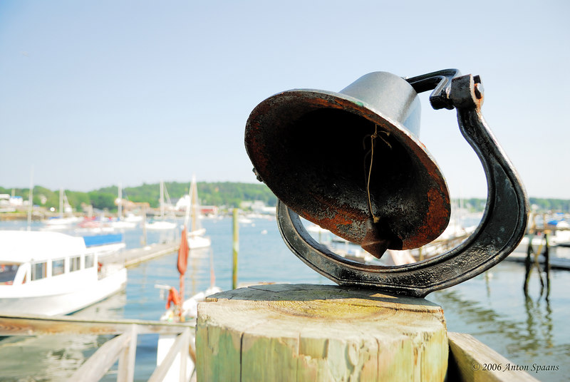 Harbor bell.<br /> Is rung when Dan brings the new catch of lobster.