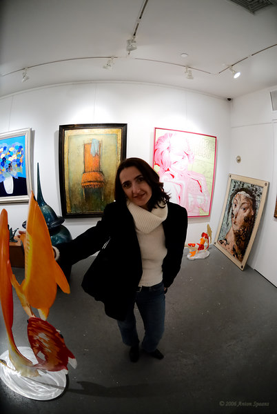 Mariana in an art gallery in Manhattan.