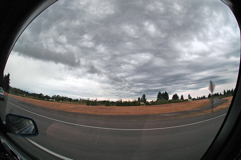 The weather on the way home (fish-eye)