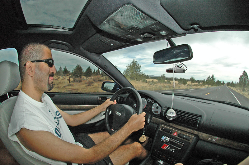 Omid, his S4, and the open road