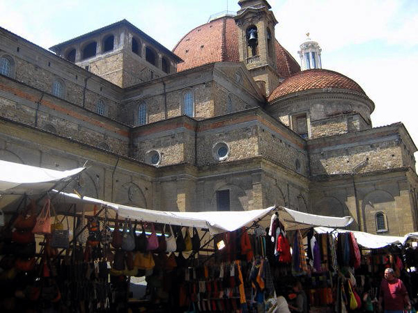 FIRENZE - FLORENCE - SAN LORENZO CHURCH - SOUVENIR SHOPS
