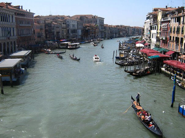 VENICE - GRAND CANAL FROM RIALTO BRIDGE