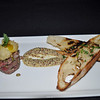 "Beef Tartare, with mustard sauce and delicious breads.  Tom wanted his ""rare"".  :-)"