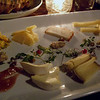 Cheese appetizer tray with jelly in one corner and honey in the other make a wonderful combination!