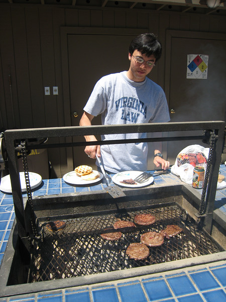 Adam got in on the grilling action as well.