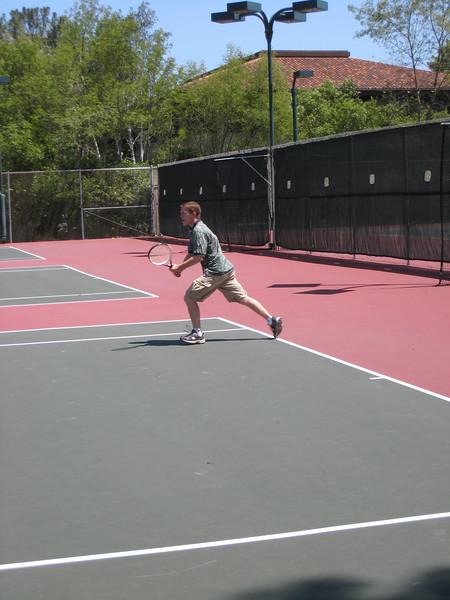 Adam Wilson demonstrating some serious tennis skills.