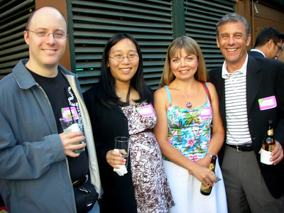 Peter Seibel and Lily Huang (and Amelia almost), Laurie, and Bill Berkowitz