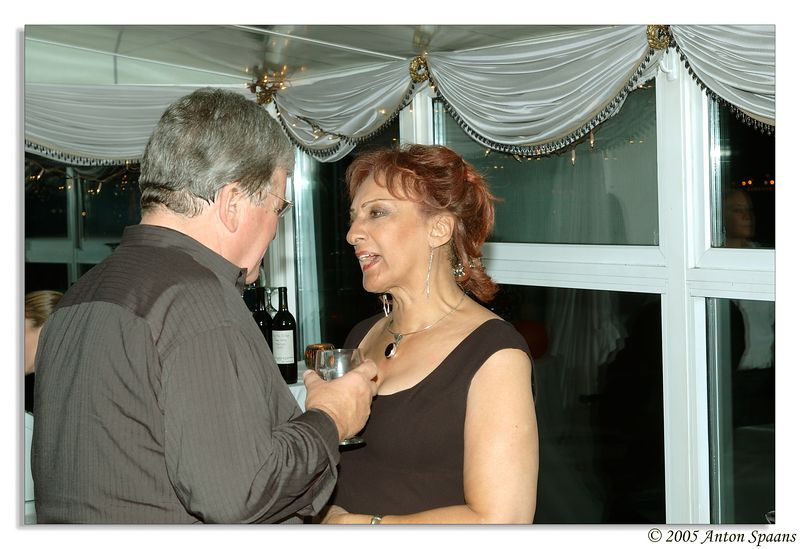Michelle's mom talking to Chet Curtis