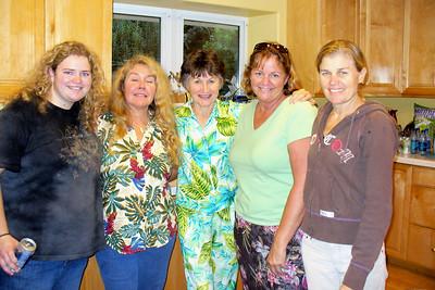 Ali, Kathy, Jackie, Kathy, and Patty