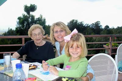 Todd's sister, niece, and Grandma