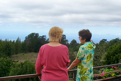 Mom and Jackie admiring the view