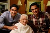 Parth and Neel with Grandmom