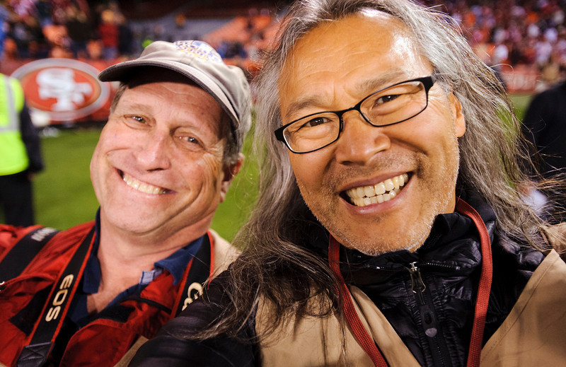 John Storey and Paul Kitagaki Jr at the 49ers  Lions game at Candlestick Park on September 16, 2012  in San Francisco, Calif.