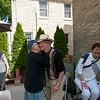 Ara's Armenian greeting to Mike–a big kiss on each cheek