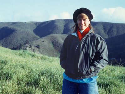 Donna near her home in Pacifica, California in the early 1990s