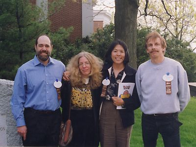 My 25th Tufts College Reunion: Ed, Tracy, Renee and Keith - all special friends from college.