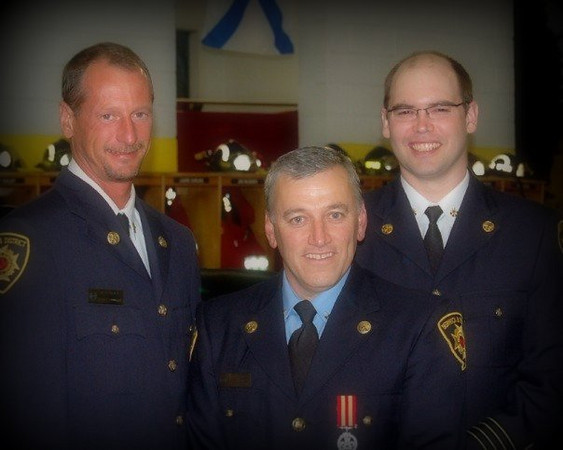 Dep. Chief Brad Palmer, Capt. Brian Taylor and Dep. Chief George Page